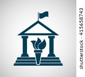 university icon design  | Shutterstock .eps vector #415658743