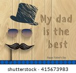 happy father's day. vector...   Shutterstock .eps vector #415673983