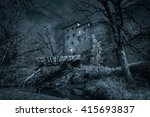 Mystic Castle In The Night Wit...