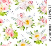 pretty summer garden seamless... | Shutterstock .eps vector #415698787