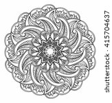 ornamental round pattern with... | Shutterstock .eps vector #415704637