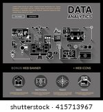 one page data analytics web... | Shutterstock .eps vector #415713967