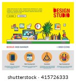 modern flat cartoon technic web ... | Shutterstock .eps vector #415726333