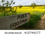public footpath sign in the...