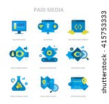 flat design style vector icons...   Shutterstock .eps vector #415753333