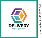 delivery box arrow logo....