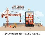 mobile app development ... | Shutterstock .eps vector #415773763