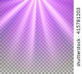 Purple Flare Rays. Violet...