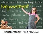 cute little girl wearing... | Shutterstock . vector #415789063