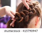 professional hairdresser... | Shutterstock . vector #415790947