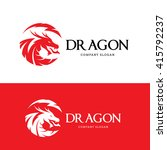 dragon logo template. | Shutterstock .eps vector #415792237