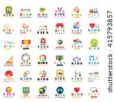 children icons set   isolated... | Shutterstock .eps vector #415793857