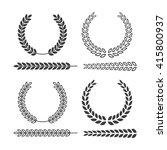 laurel wreath set. laurel... | Shutterstock .eps vector #415800937