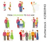 large set of people of... | Shutterstock .eps vector #415803943