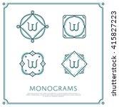 line letter w monogram. vector... | Shutterstock .eps vector #415827223