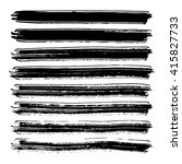 vector set of grunge brush... | Shutterstock .eps vector #415827733