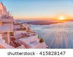 romantic santorini island... | Shutterstock . vector #415828147
