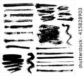 grunge brushes | Shutterstock . vector #415828903