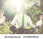 business people yoga relaxation ... | Shutterstock . vector #415840063