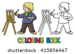 coloring picture or coloring... | Shutterstock .eps vector #415856467