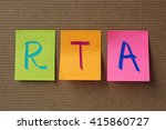 Small photo of RTA (Renal Tubular Acidosis) acronym on colorful sticky notes