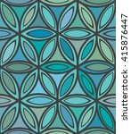 Abstract Seamless Blue And...