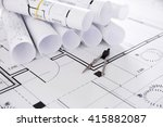 set of construction blueprints... | Shutterstock . vector #415882087