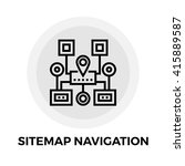 sitemap navigation icon vector. ...