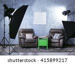 Photo Studio Interior On Grey...