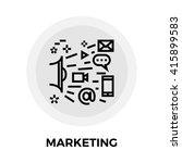 marketing icon vector. flat... | Shutterstock .eps vector #415899583