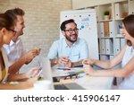happy employees   Shutterstock . vector #415906147
