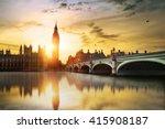 big ben and westminster bridge... | Shutterstock . vector #415908187