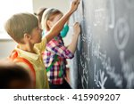 writing on blackboard | Shutterstock . vector #415909207