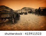 ghost town  cody  wyoming ... | Shutterstock . vector #415911523