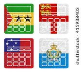 nation flag. calculator... | Shutterstock . vector #415938403