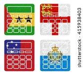 nation flag. calculator... | Shutterstock . vector #415938403