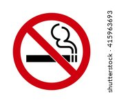 no smoking sign isolated on... | Shutterstock .eps vector #415963693