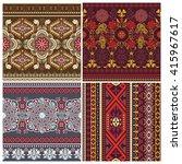 set of striped seamless pattern.... | Shutterstock .eps vector #415967617