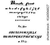 vector alphabet. calligraphic... | Shutterstock .eps vector #416006827
