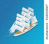 sailing ship. can be used for... | Shutterstock .eps vector #416010067