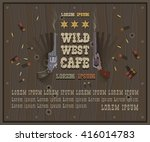 wild west cafe with text | Shutterstock .eps vector #416014783