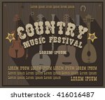 wild west country music festival | Shutterstock .eps vector #416016487