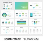 vector set of presentation...