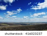 agricultural field under the... | Shutterstock . vector #416023237