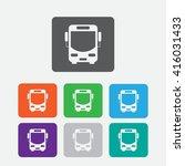 bus vector icon. color icon | Shutterstock .eps vector #416031433
