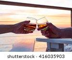 toasting whiskey   Shutterstock . vector #416035903