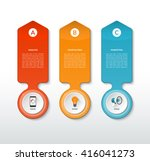 vector abstract template for... | Shutterstock .eps vector #416041273