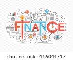 creative concept of finance ...   Shutterstock .eps vector #416044717