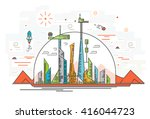 vector illustration of human... | Shutterstock .eps vector #416044723