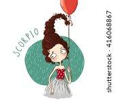 zodiac signs scorpio. vector... | Shutterstock .eps vector #416068867